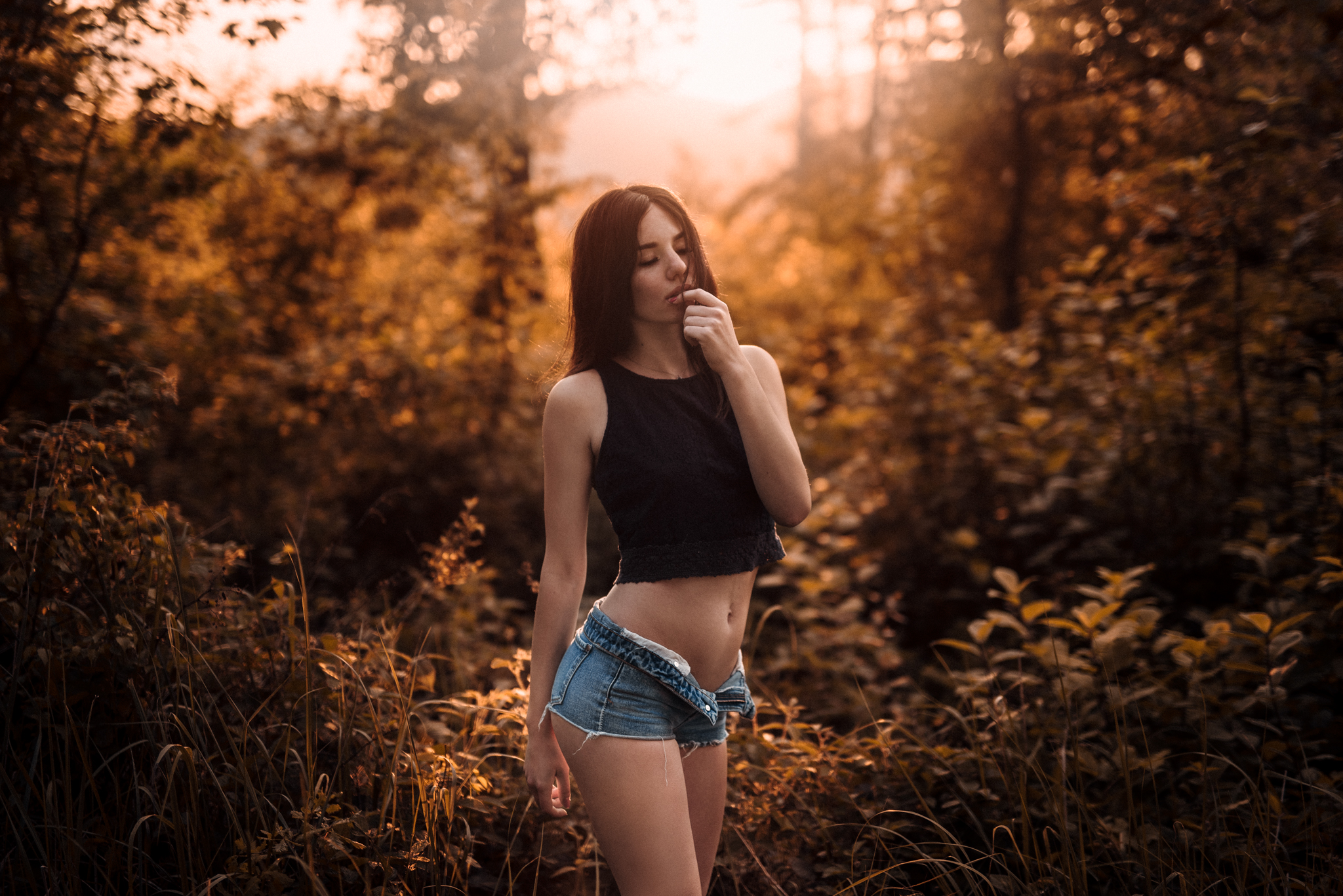 sunset, západ slnka, dievča, girl, art, emotion, feel, glamour, body, sexy, nature, summer, hot, spring, gentle, fine
