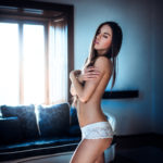 portrait, glamour, nude, topless, Chateau Appony, Oponice