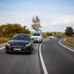 Roadshow, four Mercedeses, test ride