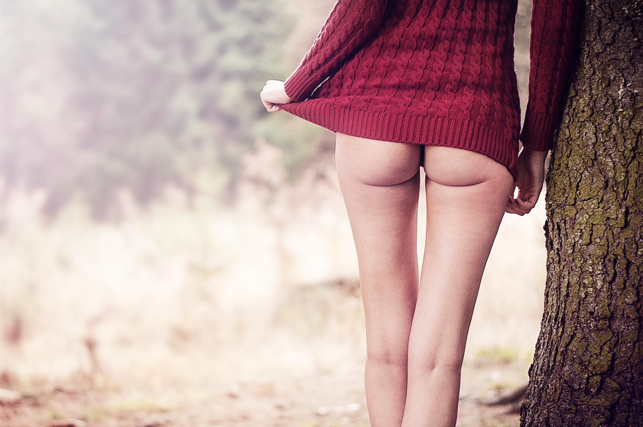sexy, zadok, prdel, ass, príroda, nohy, legs