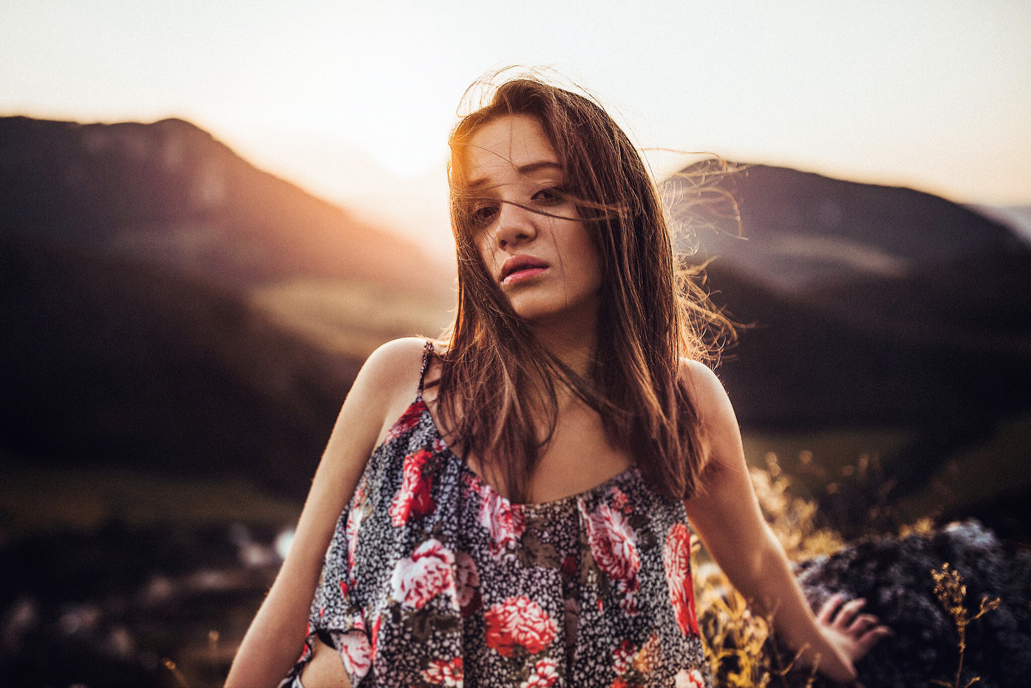 sunset, západ slnka, dievča, girl, art, emotion, feel, hair, glamour, body, sexy, nature, summer, hot, redhead, freckles, spring, gentle, fine, spontaneous, Bosmany, Považská Bystrica