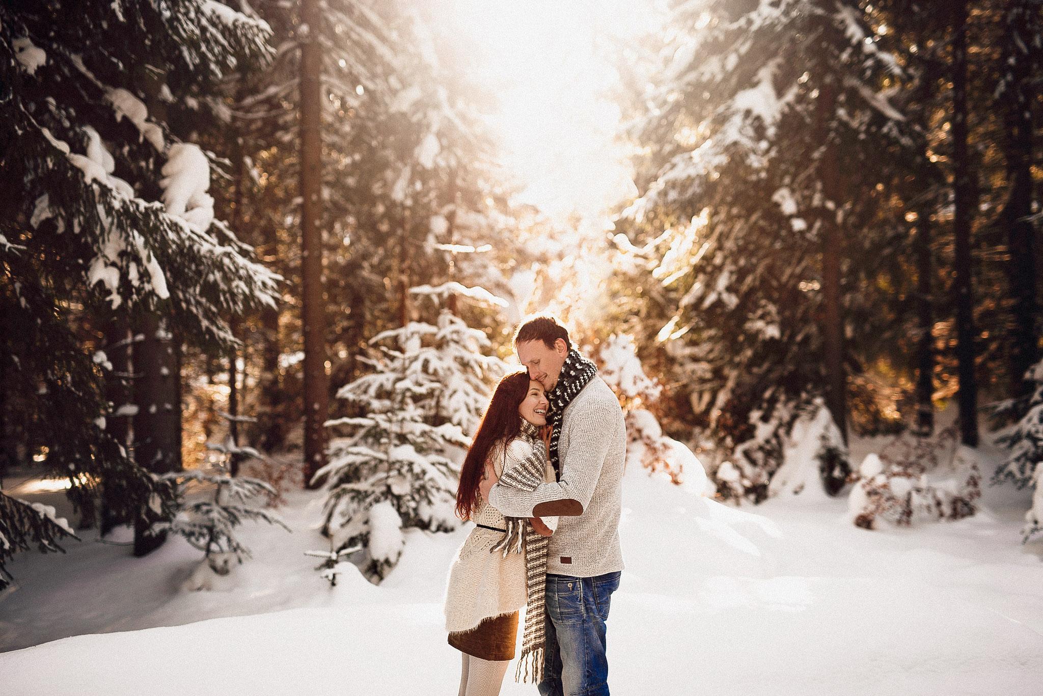vintage, Orava, Oravská Lesná, zima, sneh, kalamita, rozprávka, láska, zamilovaný pár